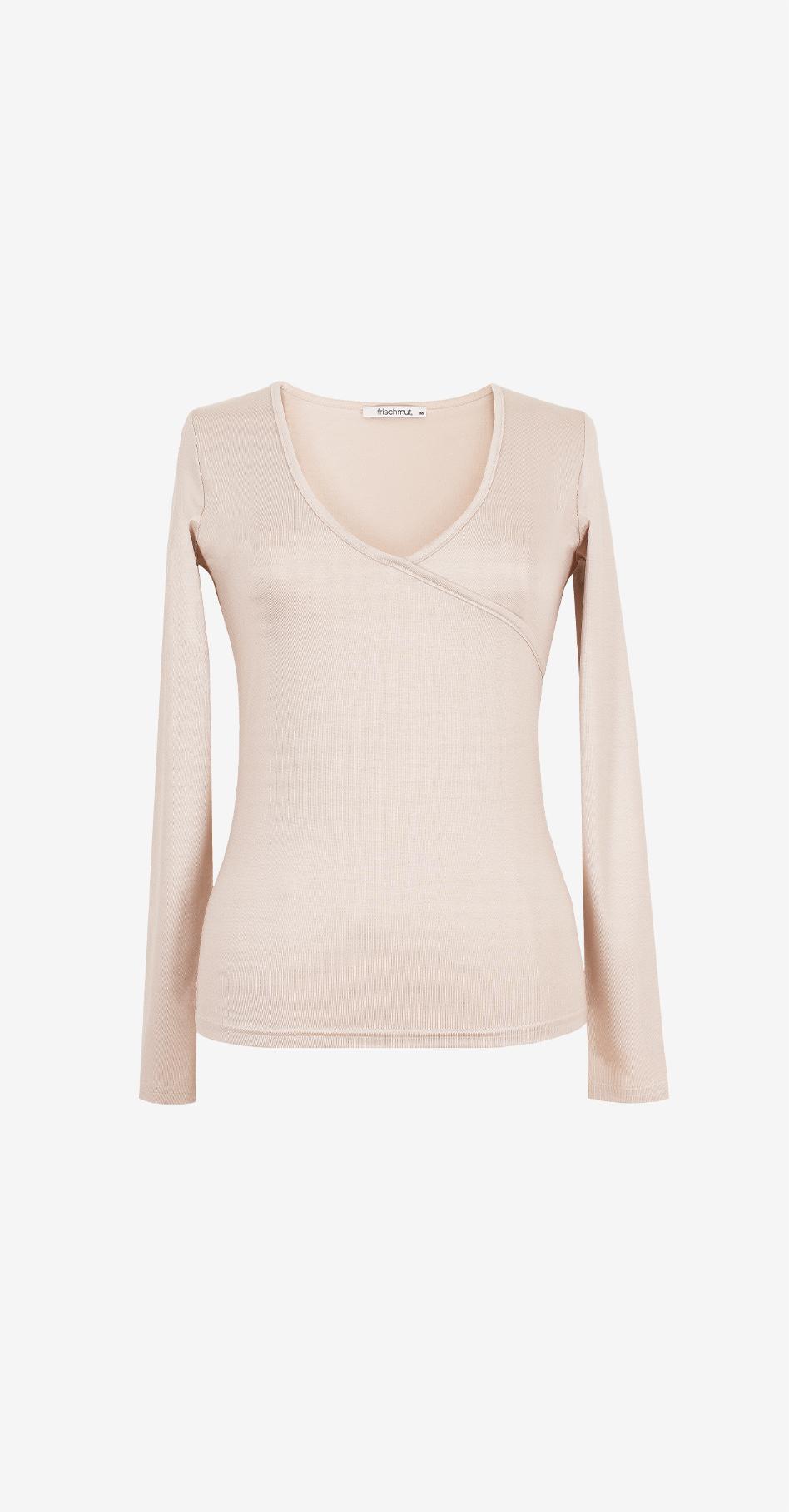 Shirt Malou/ beige/ langarm
